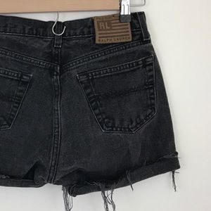 Vintage Ralph Lauren Black Jean Cut Off Shorts